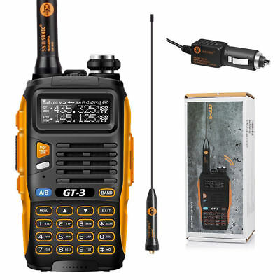 US! Baofeng GT-3 MarkII Dual Band VHF/UHF 136-174/400-520MHz Ham Two-way Radio