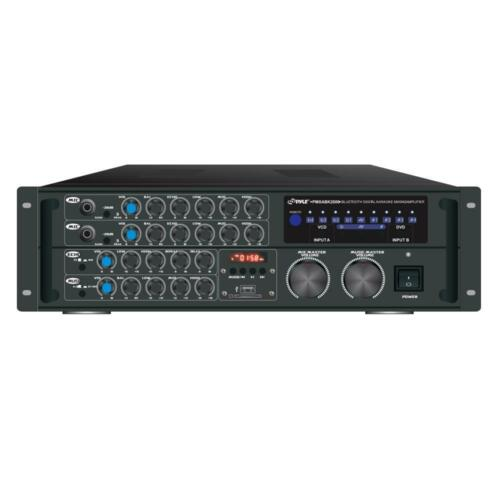 Pyle PMXAKB2000 2000W Bluetooth Stereo Mixer Karaoke Amplifier System