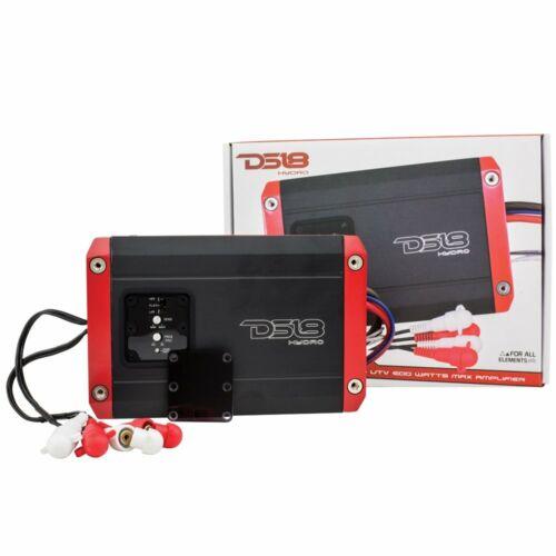 DS18 Hydro NXL200.2D Marine Car 2-Channel 600 Watt IPX6 Waterproof Amp Amplifier