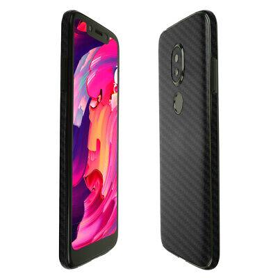 Skinomi Black Carbon Fiber Skin Cover For T-Mobile REVVLRY 5.7 Inch Display  - $15.95