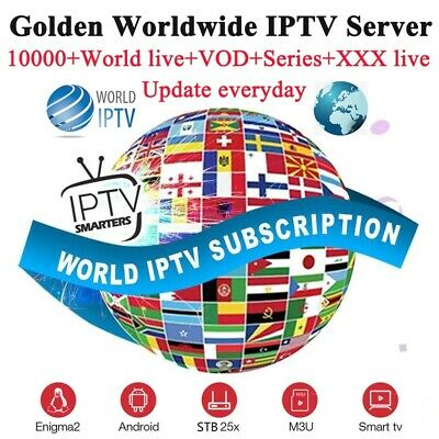 (1 year) IP-TV Golden Subscription (USA, UK, INDIA, ARABIC, LATINO)