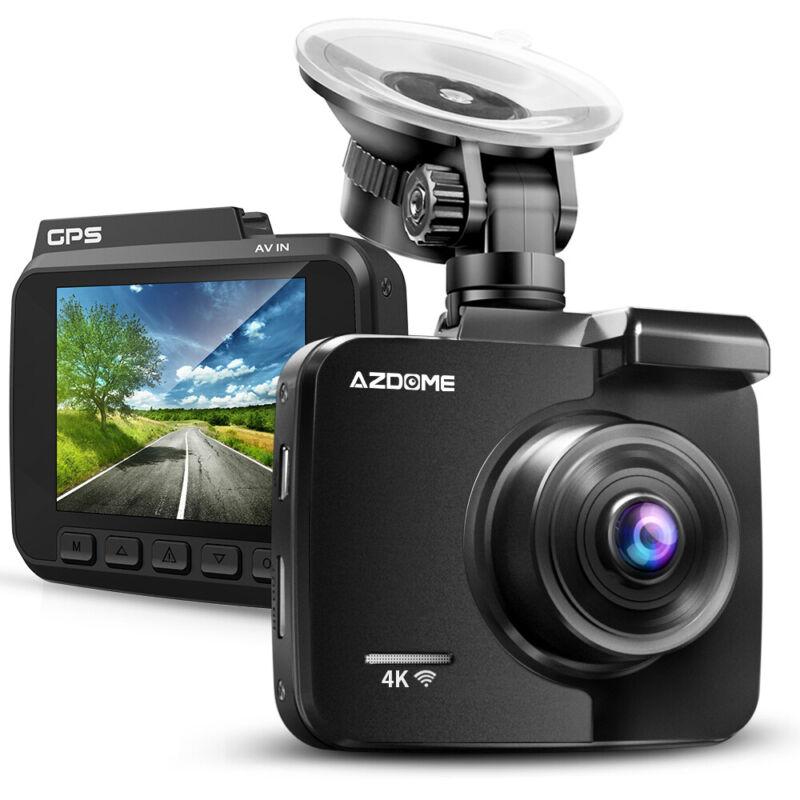 AZDOME 4K Ultra 2160P WiFi Dash Cam Night Vision GPS Car DVRs Car Camera Cams