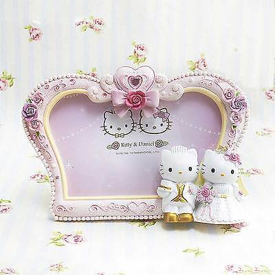 Pink Hello Kitty Resin Photo Frame Picture Crown Party Wedding Anniversaries ()