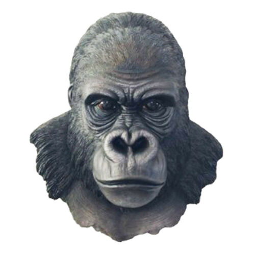 "SILVERBACK KING      Gorilla Wall Hanging Bust     Statue Figurine  H17""  Ape"
