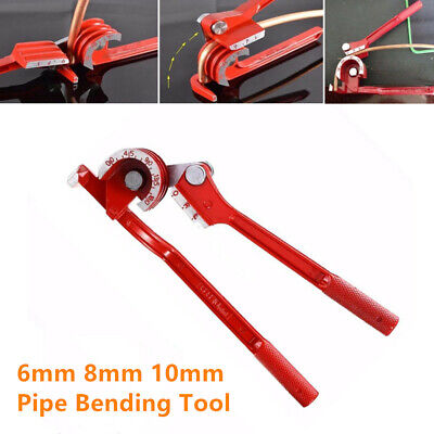 1pc Pipe Bending Tool Tube Bender Car Tubing Hose Brake Fuel Line Plier 6810mm