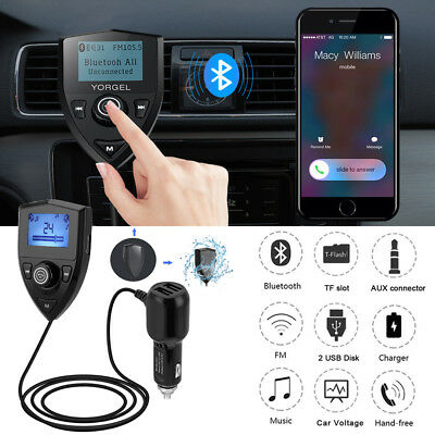 Bluetooth 4.2 FM Transmitter Auto Radio MP3 Player 2USB Adapter Freisprechanlage