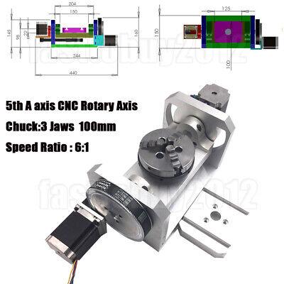 Rotary Axis 5th 4th A Axis Cnc Dividing Head 3 Jaw 4 Chuck Ratio 61 Engraving