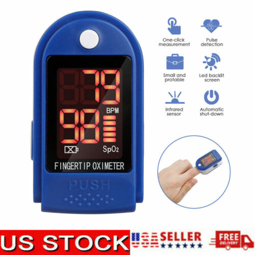 USA Finger Tip  Pulse Oximeter Blood Oxygen SpO2 Monitor PR PI Respiratory Rate
