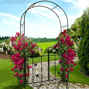Arche jardin portillon plante grimpante arceau rosier support acier d coration ebay - Arche plante grimpante ...