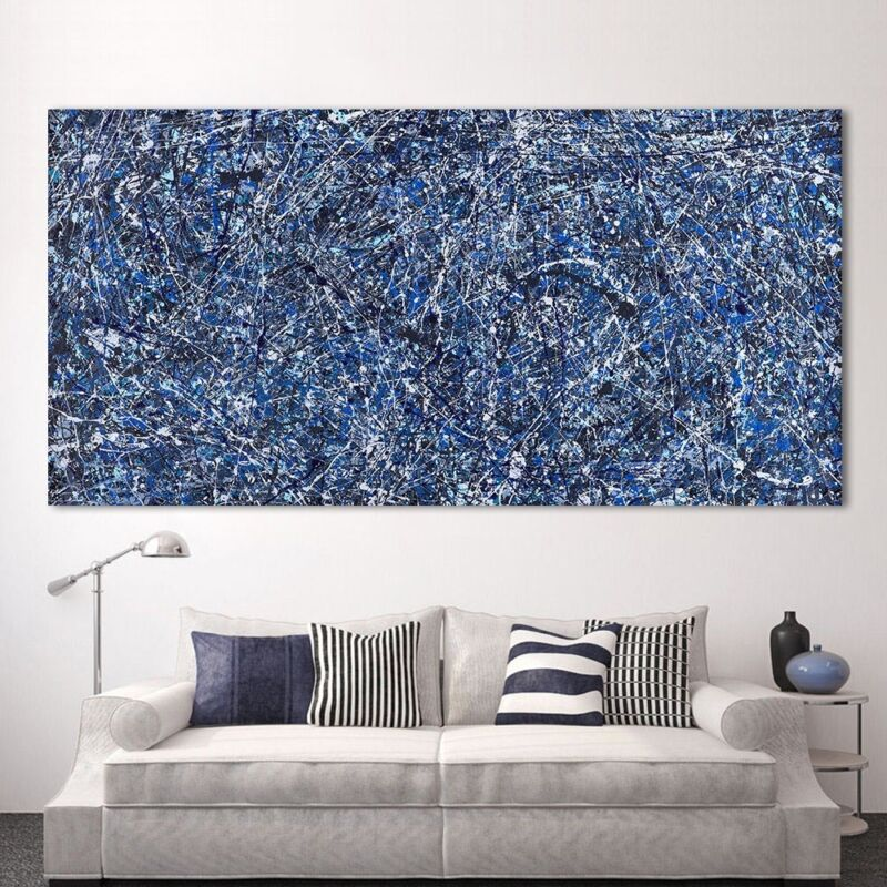 """30/'/'x42/"""" Jackson Pollock Stenographic Figure HD Print on Canvas Wall Picture"""