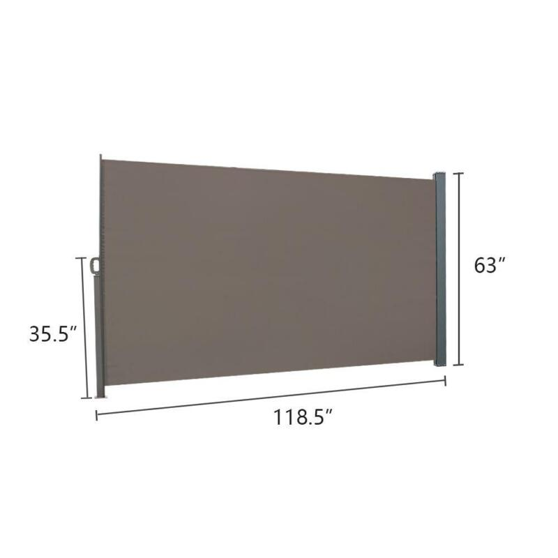 Side Pull Shed Isolation Canopy Office Partition Windshield Awning Brown US