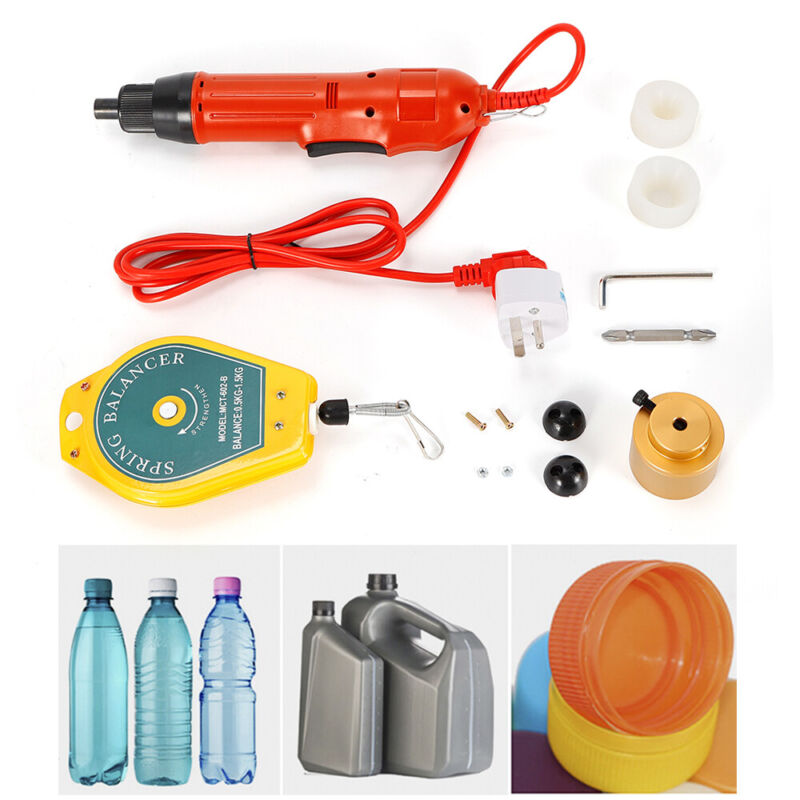New Red Handheld Electric Bottle Capping Machine Screw Capper 110V 80W 1-30mm US
