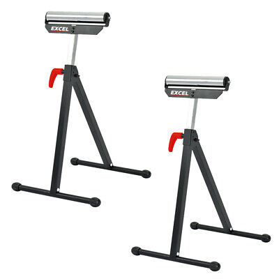 2 x Excel Telescopic Workbench Roller Stand Adjustable Height Easy Storage