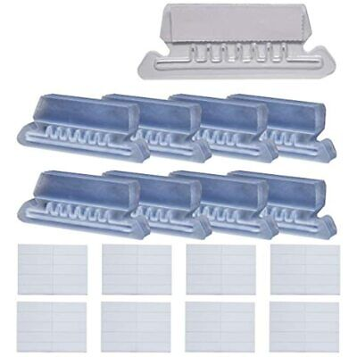 80 Sets Hanging File Tabs Clear Folder Labels Insertable Plastic Filing Inch