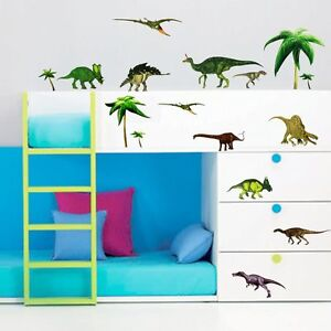 Dinosaur-Kids-Children-Nursery-Wall-Sticker-Decals-art-Reusable-Paper-Mural
