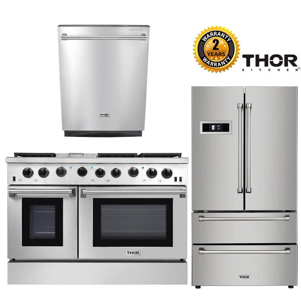 48in gas range 2 ovens 36in refrigerator