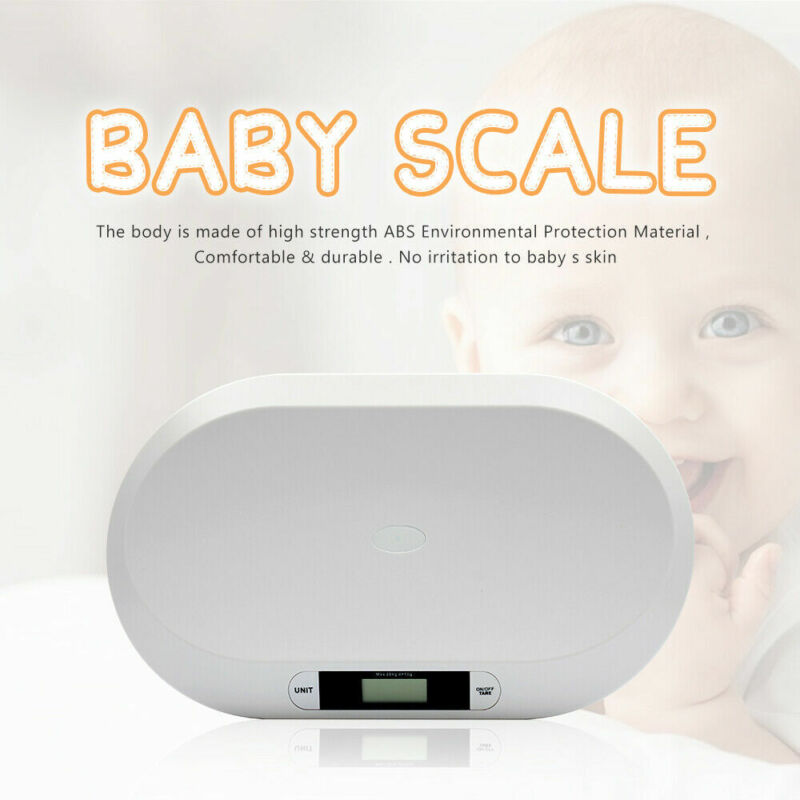 Baby Infant Scale ABS Weight Grow Electronic Meter Digital LCD Display 20KG USA