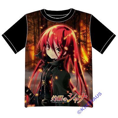 Neu Shakugan no Shana Anime Cosplay T-Shirt EU XS S M L XL Schwarz COOL (Shakugan No Shana Cosplay Kostüm)