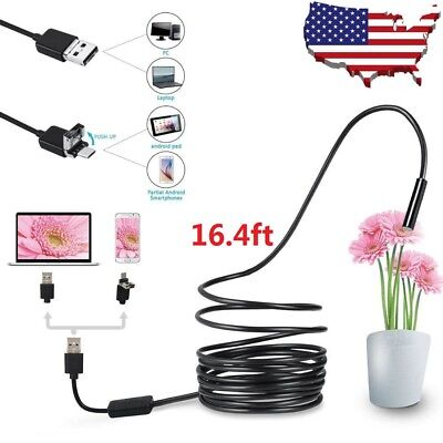Usb Endoscope Borescope Waterproof Snake Camera 6 Led For Mac Os Android Windows