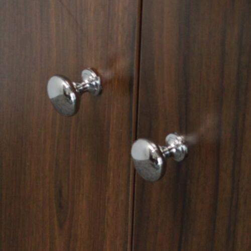 4 x ROUND KNOB 36MM BRUSHED CHROME KITCHEN BEDROOM CABINET DOOR DRAWER HANDLE