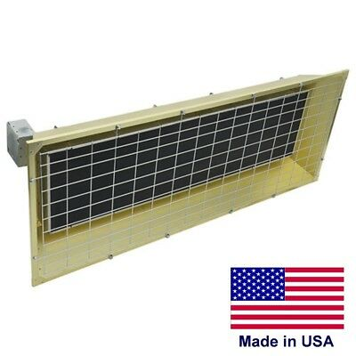 Electric Infrared Overhead Heater - 600 V - 32414 Btu - 1 Or 3 Phase - 460 Sqft