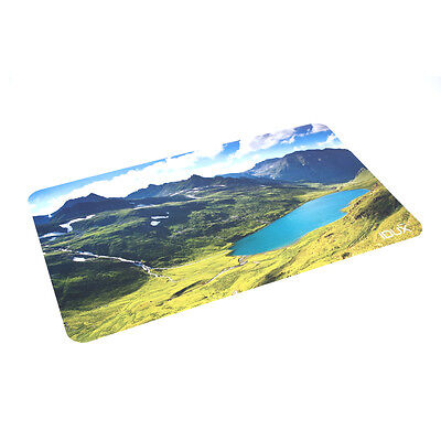 Leather Desk Pad Soft Leather Mat Waterproof Mountains And Lakes Photo 2615