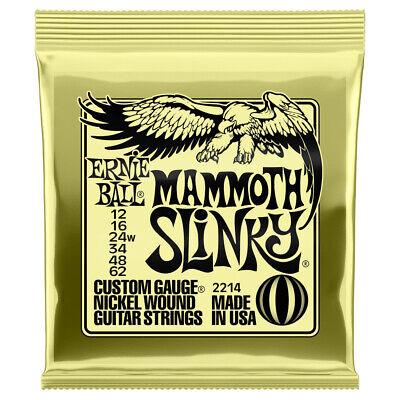 Ernie Ball 2214 Mammoth Slinky Nickel Wound Electric Guitar Strings, 12-62 Gauge