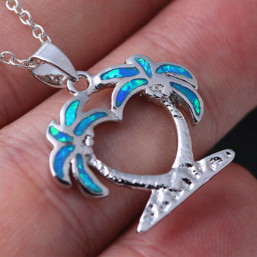 12 Styles Blue Opal Stone Animal Pendant Necklace Chic Clavicle Chain Jewelry