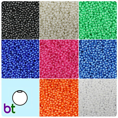 4mm Round Faux Pearl Beads - BeadTin Faux Pearl 4mm Round Plastic Craft Beads (1000pcs) - Color choice