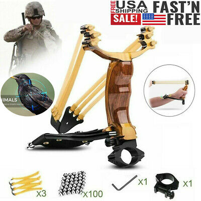 Professional Slingshot Set High Velocity Catapult Sling Shot for Outdoor Hunting