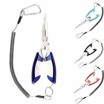 Stainless Steel Fishing Plier Scissors Line Cutter Fish Tackle Hook Remover Tool