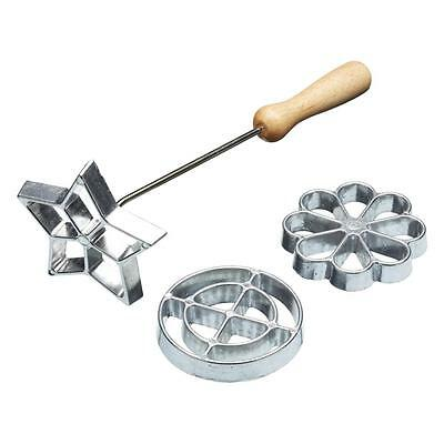 Sweet & Savoury Crispy Fritter Cookie Swedish Rosette Cooking Iron Mould Set