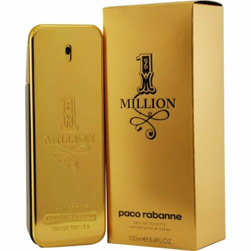 1 One Million by Paco Rabanne 3.4 oz Cologne for Men New In Box Sealed
