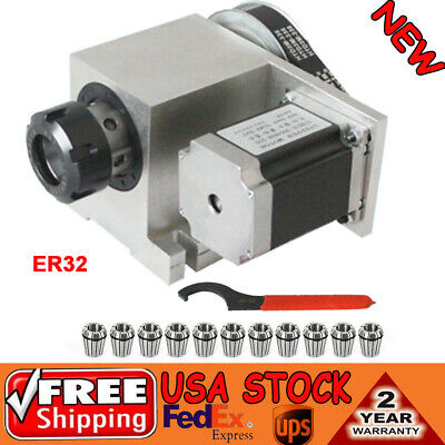 Hollow Shaft 4th Axis Cnc Rotational Router A Axis 11pcs Er32 Collet 3-20mm