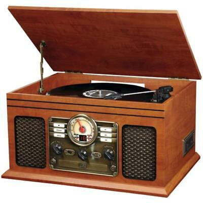 Victrola Retro 6-in-1 Bluetooth Turntable Record Player Stereo System VTA-200B