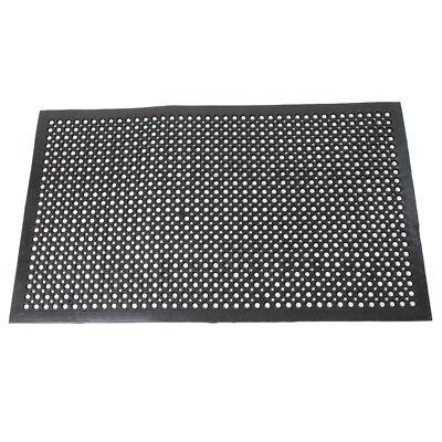 Anti Fatigue Rubber - Heavy Duty Floor Mat Anti Fatigue Kitchen Bar Rubber Drainage Black 36
