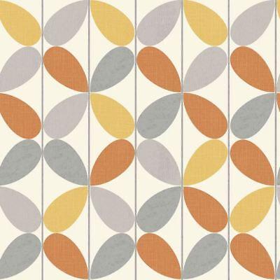 Reverb Orange & Yellow Wallpaper By Arthouse Retro Geometric Vintage (Orange Geometric Wallpaper)