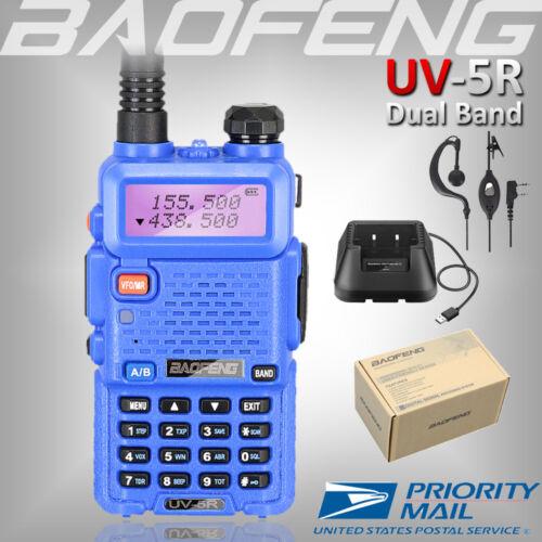BAOFENG UV-5R BLUE 136-174/400-520Mhz Two Way Ham FM Radio V