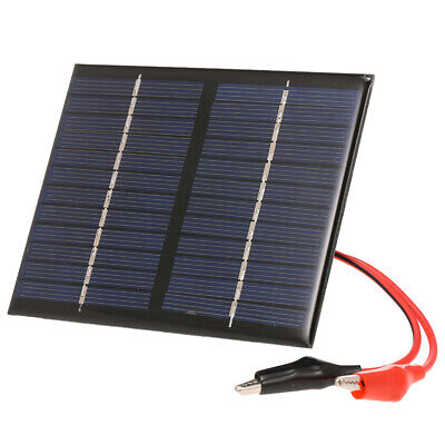 1.5W 12V Polykristalline Solarpanel Charger mit Alligator Clip G0H4 1,5 W Solar Panel