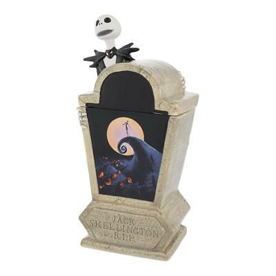 The Nightmare Before Christmas Jacks Tombstone Sculpted Ceramic Cookie Jar NEW