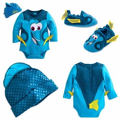 Disney Store Finding Dory Baby Bodysuit Costume Dress Up Shoes NEMO Halloween](Nemo Infant Costume)