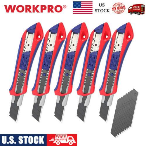 5pack heavy duty utility knife box cutter