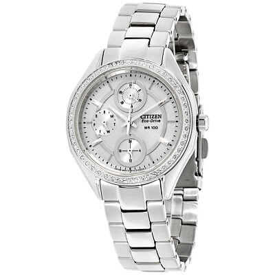 Citizen POV Silver Dial Stainless Steel Ladies Watch FD1060-55A