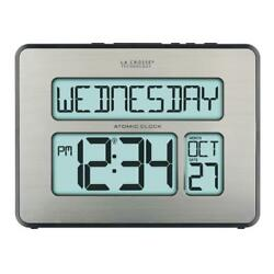 NEW Atomic Full Calendar Digital Clock with Extra Large Digits - Senior Gift