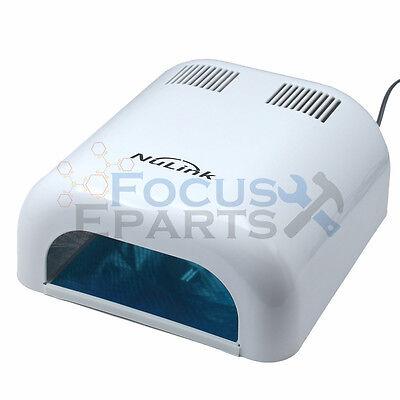 36W Manicure Nail Dryer Salon Gel Curing Polish UV Lamp Light Acrylic White