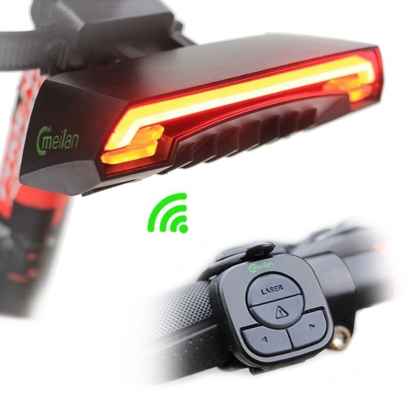 New Bike Lamp Meilan X5 LED Remote Control Bicycle Rear Tail Light Turn
