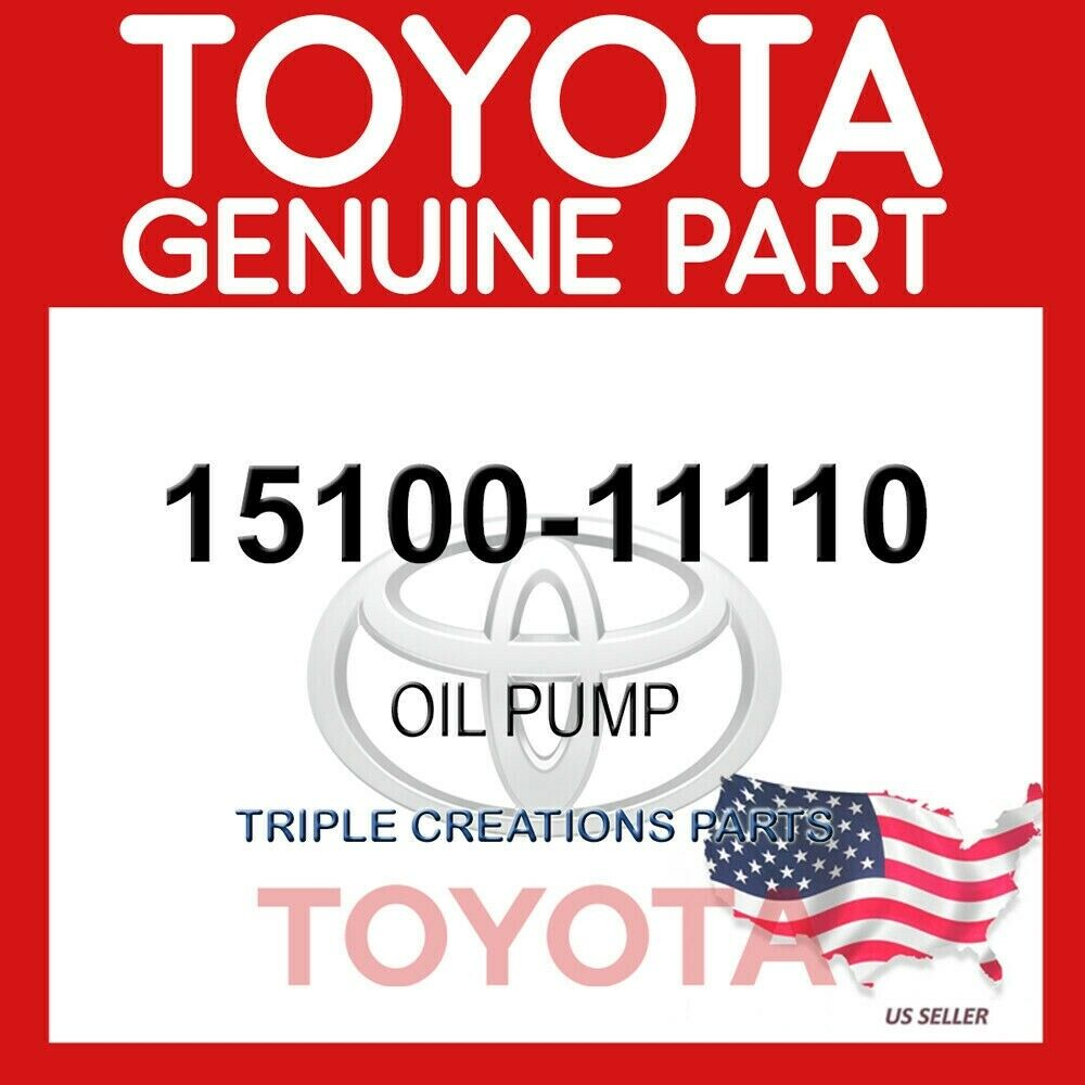 15100-25020 GENUINE OEM TOYOTA OIL PUMP ASSY 1510025020