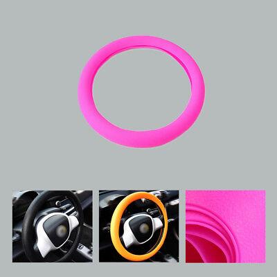 x1 Rose Textur Weiches Silikon Leder Lenkrad Abdeckung W36-40cm