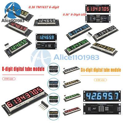 0.36 0.56 Inch 6 8 Digit 7-segment Led Display Module Tm1637 74hc595
