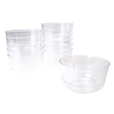 Clear Mini Round Plastic Appetizer Dessert Bowls, 3-Inch x 2-Inch, - Clear Plastic Bowl